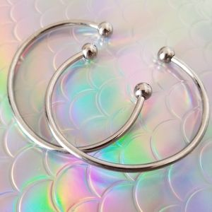 Set of 2 Stainless Steel Bangles